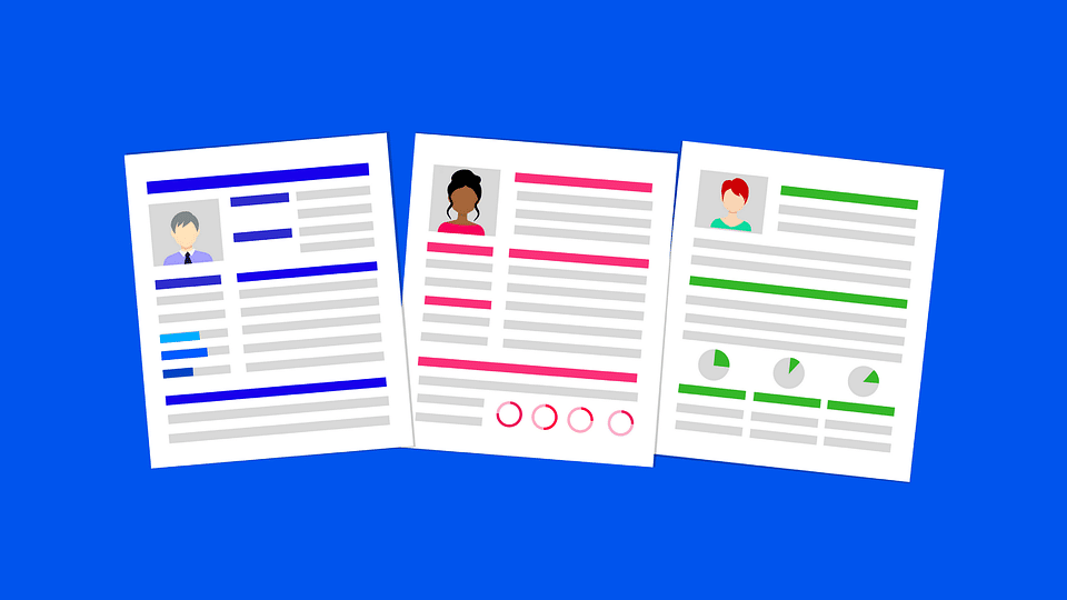 colored resumes