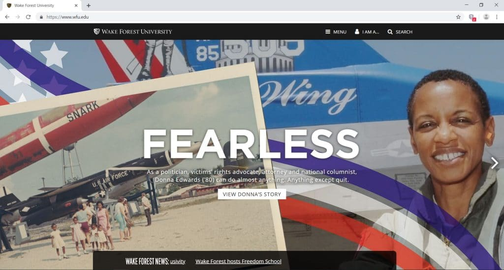 official website of wake forest university