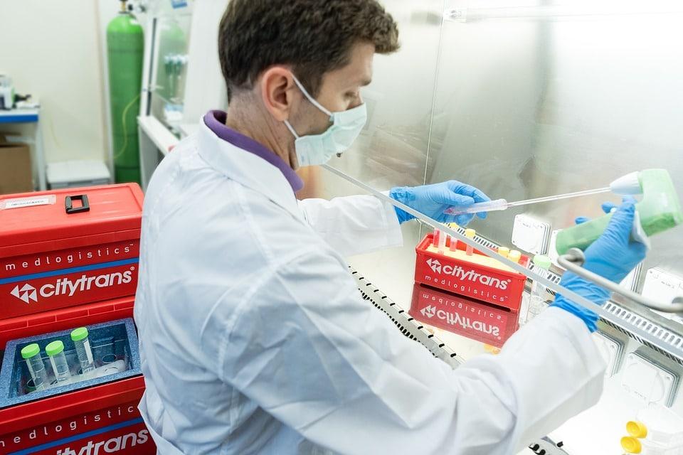 Medical Technician on laboratory room